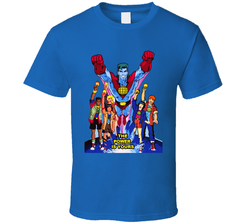 Captain Planet And The Planeteers T Shirt
