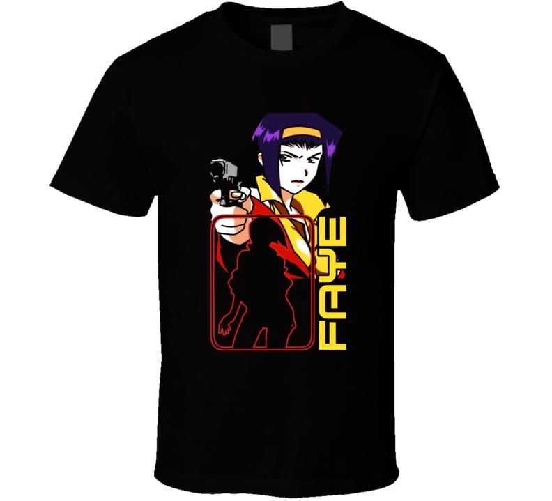 Cowboy Bebop Faye Manga T Shirt