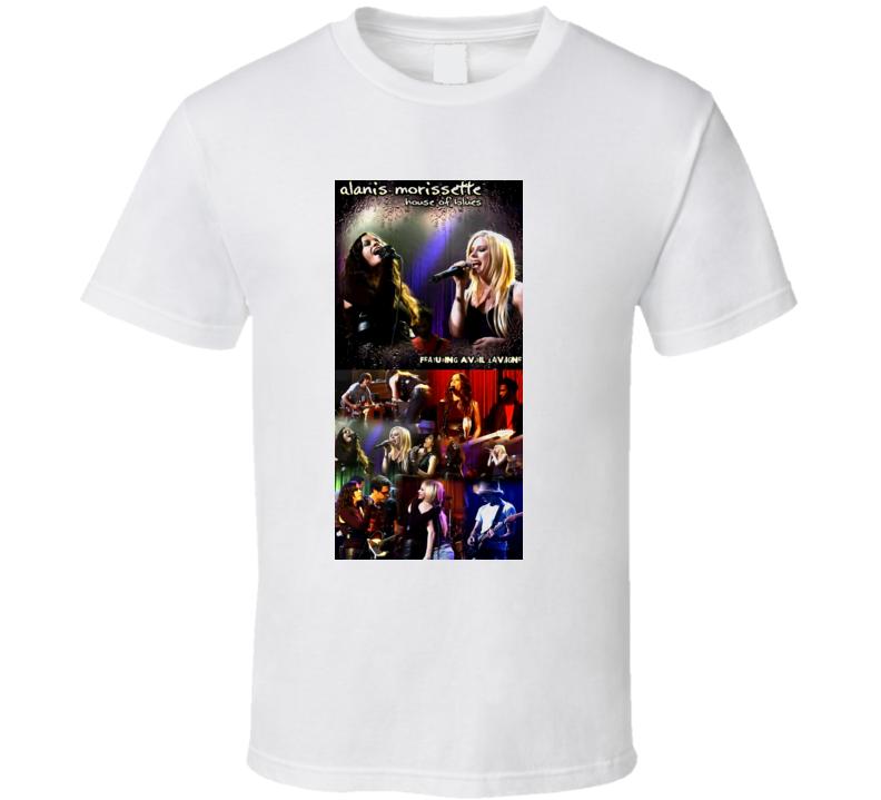 Alanis Morissette Avril Lavigne T Shirt