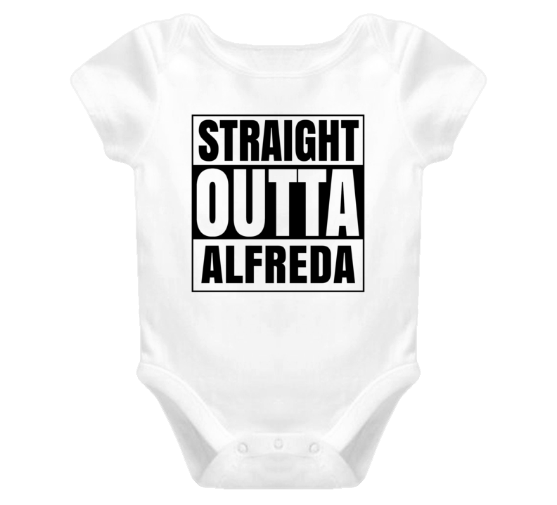 Straight Outta Alfreda Female Name Pregnancy Baby One Piece