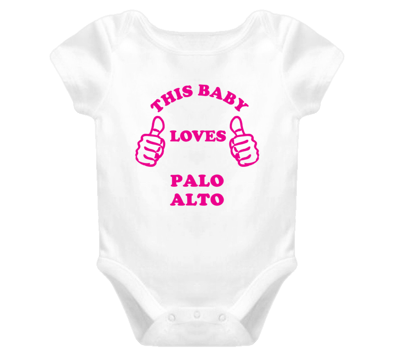 Palo Alto USA This Girl Loves Baby One Piece