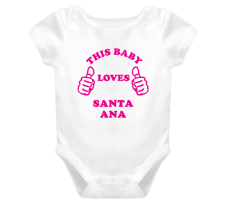Santa Ana USA This Girl Loves Baby One Piece