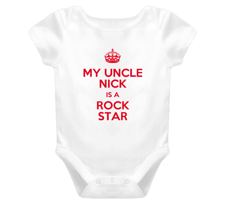 Nick My Uncle Is a Rock Star Bodysuit Baby One Piece