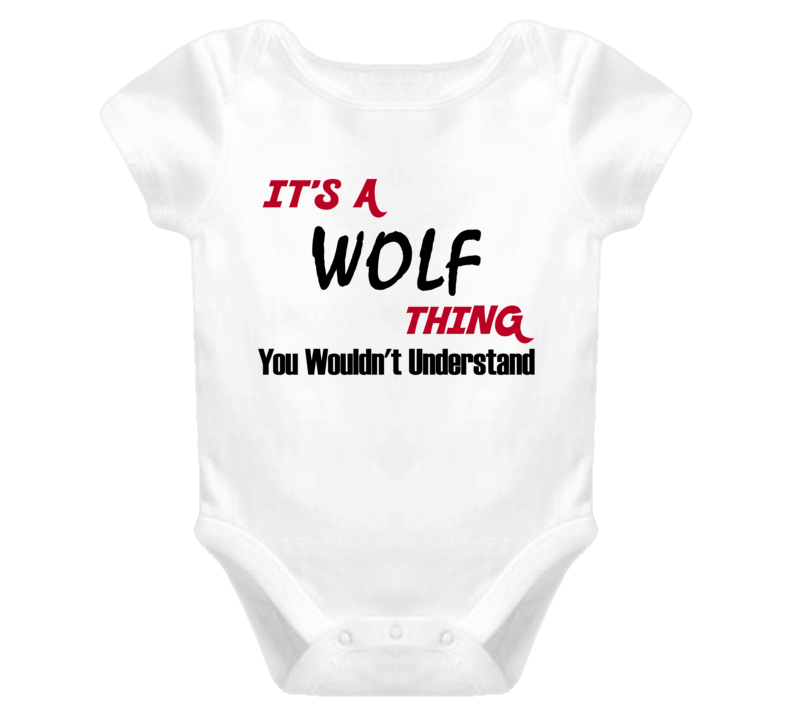 Family Wolf Thing You Wouldnt Understand Baby One Piece Bodysuit