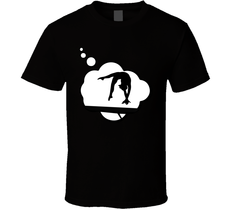 I Dream Of Acrobatic Gymnastics Sports Hobbies Thought Bubble Fan Gift T Shirt