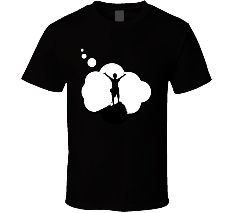 I Dream Of Climbing Sports Hobbies Thought Bubble Fan Gift T Shirt