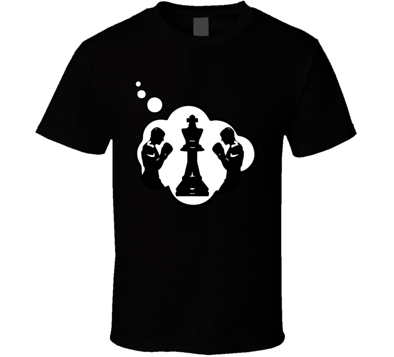 I Dream Of Chess Boxing Sports Hobbies Thought Bubble Fan Gift T Shirt