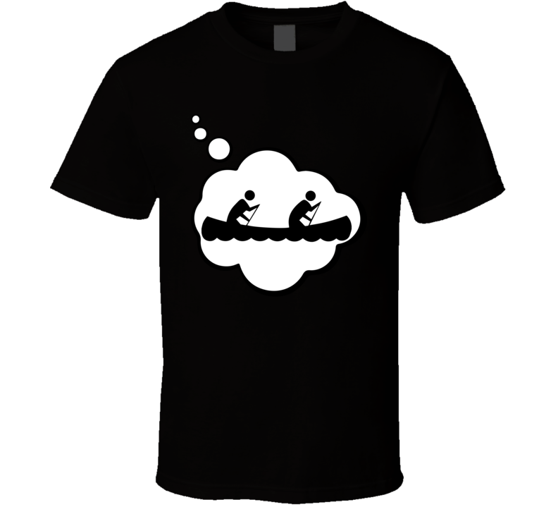 I Dream Of Canoeing Sports Hobbies Thought Bubble Fan Gift T Shirt