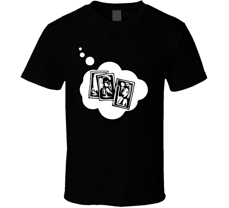 I Dream Of Card Collecting Sports Hobbies Thought Bubble Fan Gift T Shirt