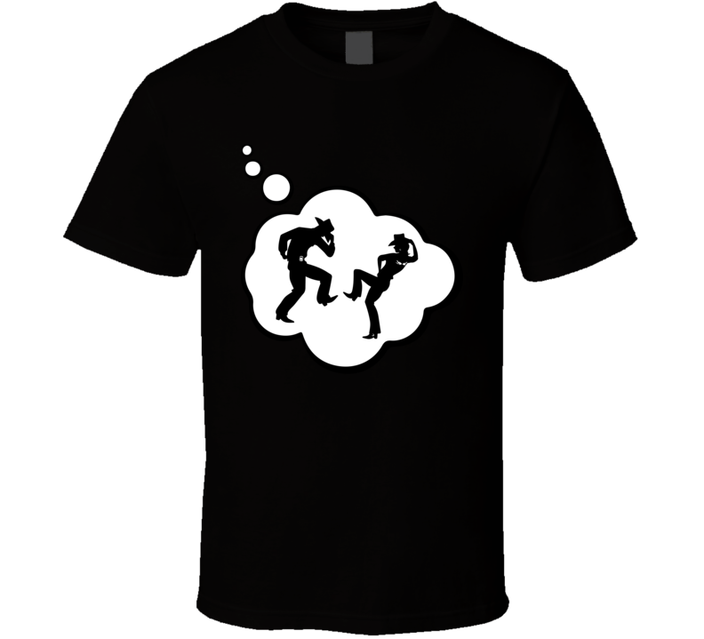 I Dream Of Country Western Dance Sports Hobbies Thought Bubble Fan Gift T Shirt