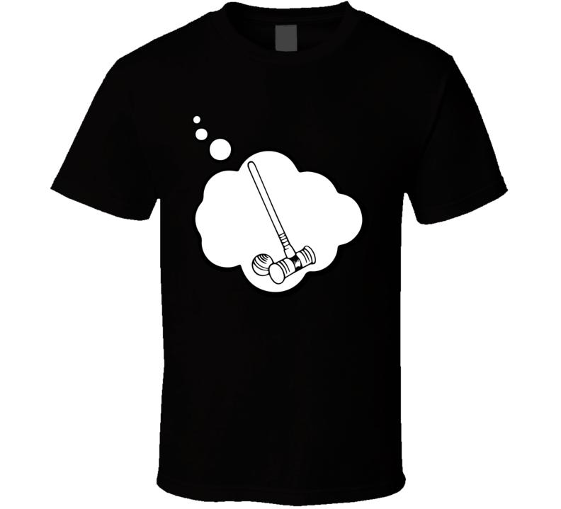 I Dream Of Croquet Sports Hobbies Thought Bubble Fan Gift T Shirt