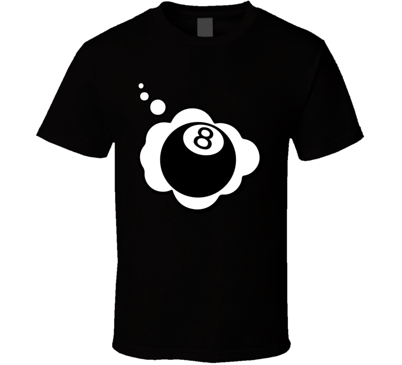 I Dream Of Eight Ball Sports Hobbies Thought Bubble Fan Gift T Shirt