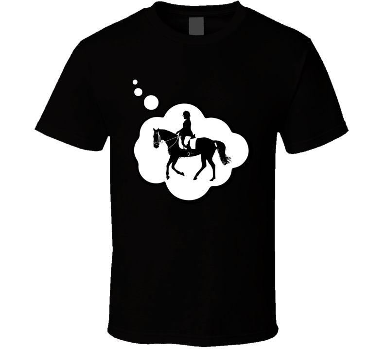I Dream Of Dressage Sports Hobbies Thought Bubble Fan Gift T Shirt