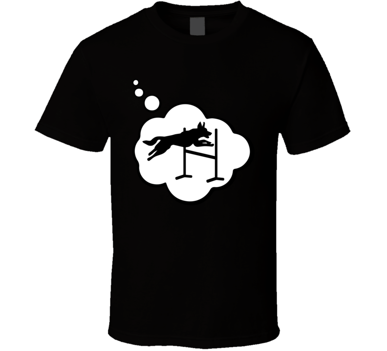 I Dream Of Dog Agility Sports Hobbies Thought Bubble Fan Gift T Shirt