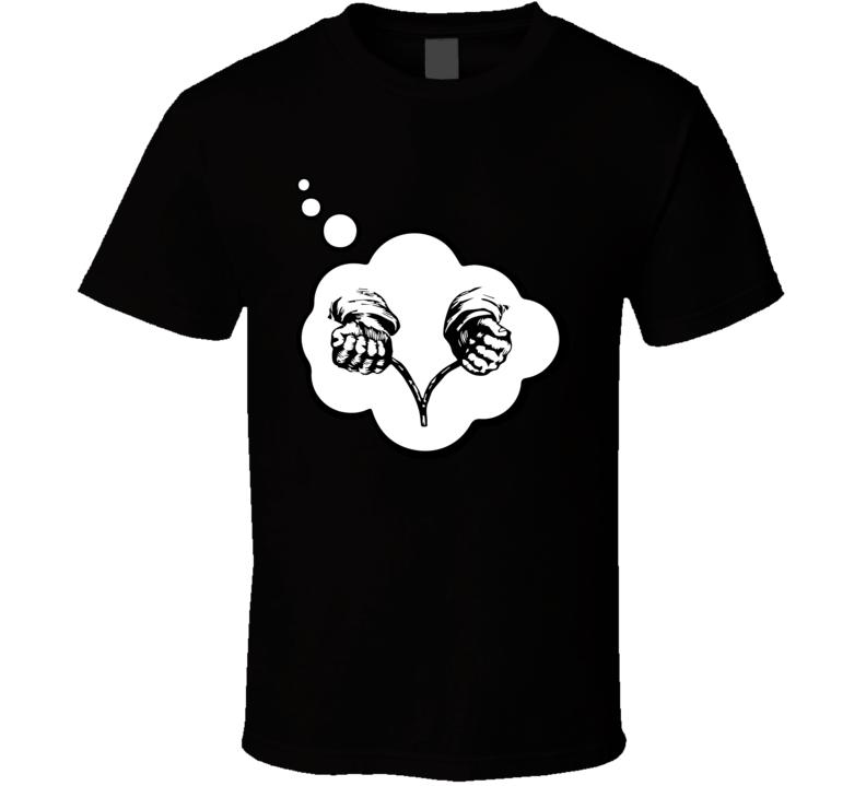 I Dream Of Dowsing Sports Hobbies Thought Bubble Fan Gift T Shirt