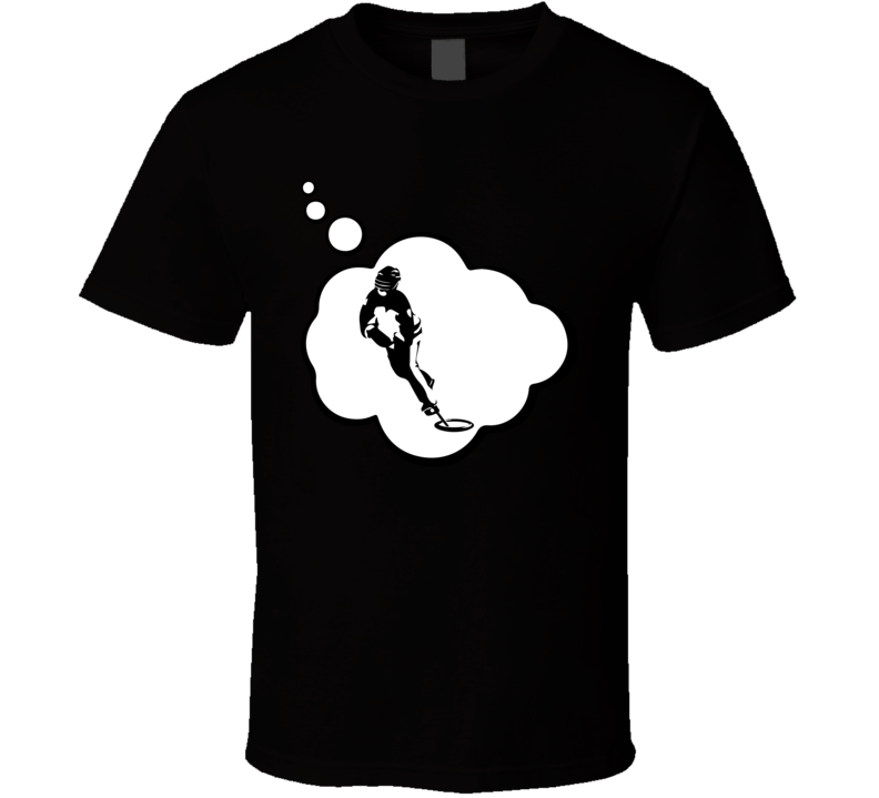 I Dream Of Ringette Sports Hobbies Thought Bubble Fan Gift T Shirt
