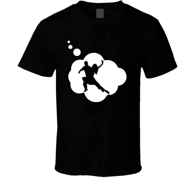I Dream Of Salsa Dance Sports Hobbies Thought Bubble Fan Gift T Shirt