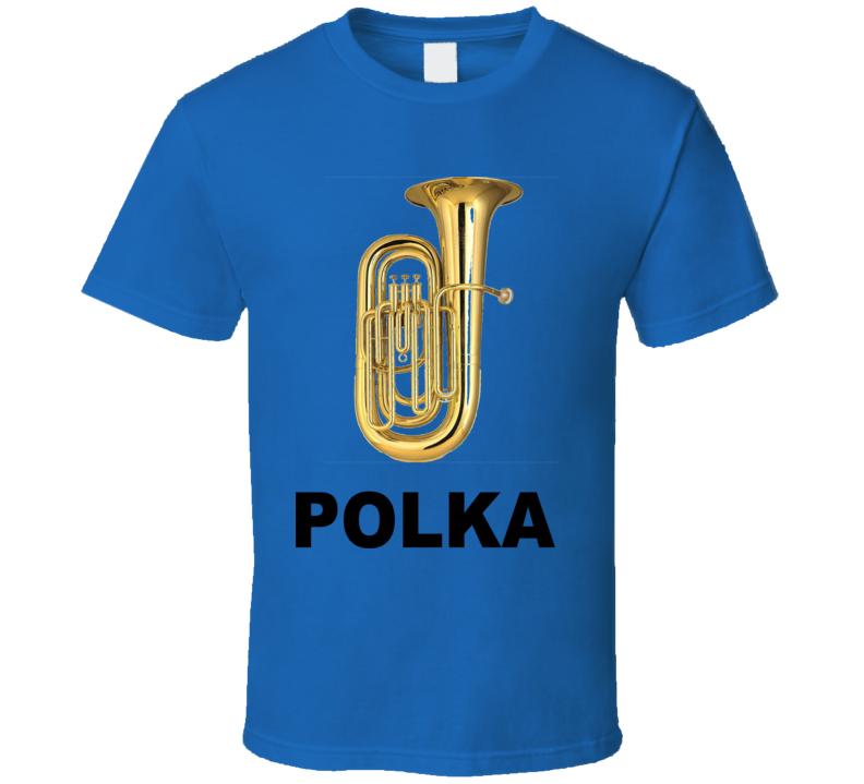 Tuba Polka (Black Text) T Shirt