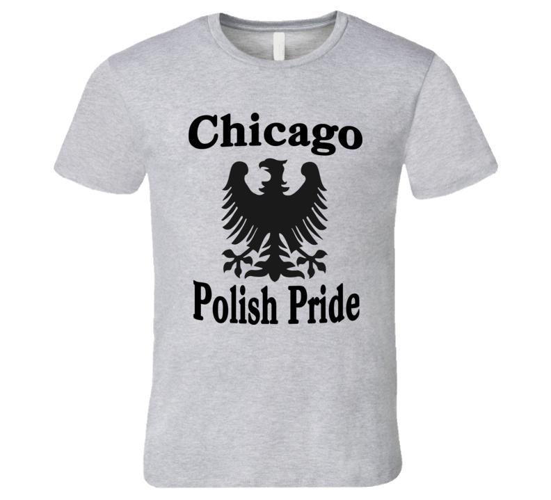 Chicago Polish Pride (All Black Graphic) T Shirt