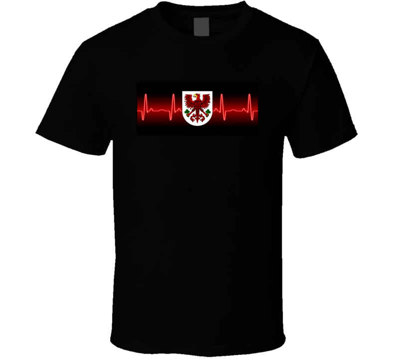 Polish Emblem Heartbeat T Shirt