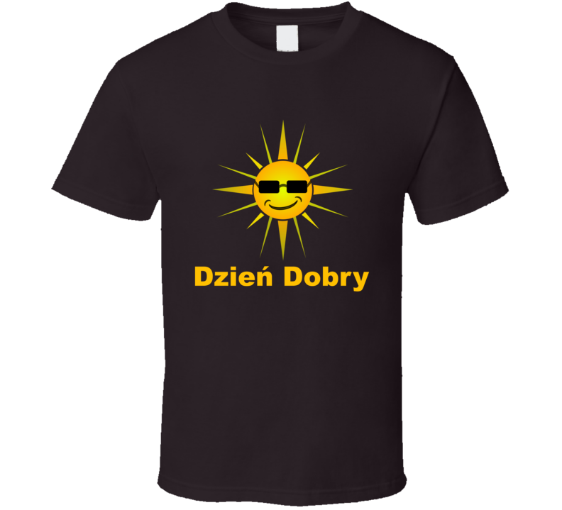 Dzień Dobry Yellow Sun T Shirt