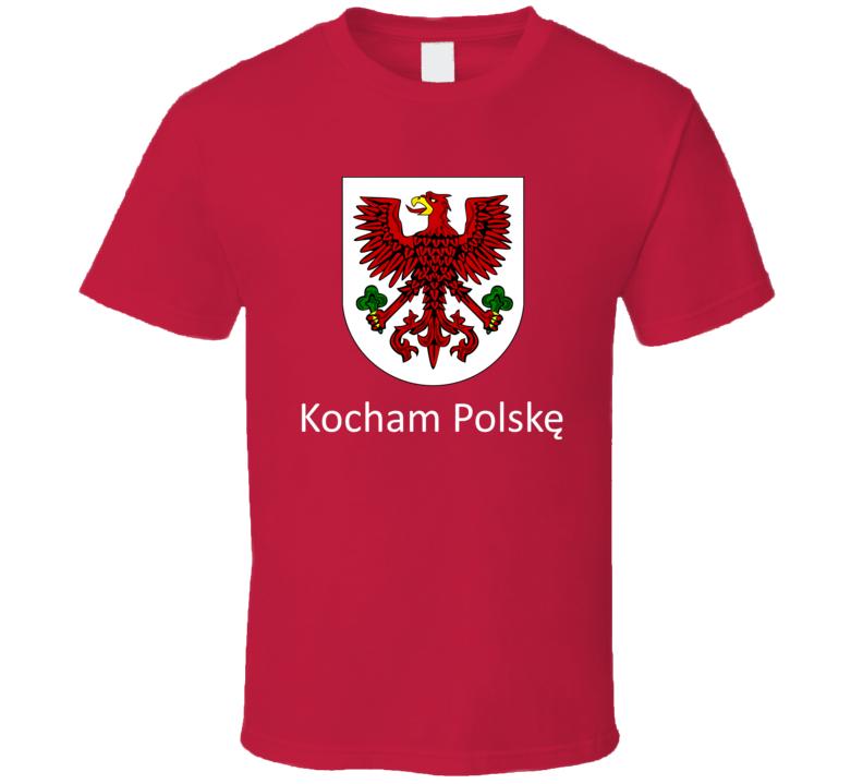Kocham PolskÄ™ (White Text) T Shirt