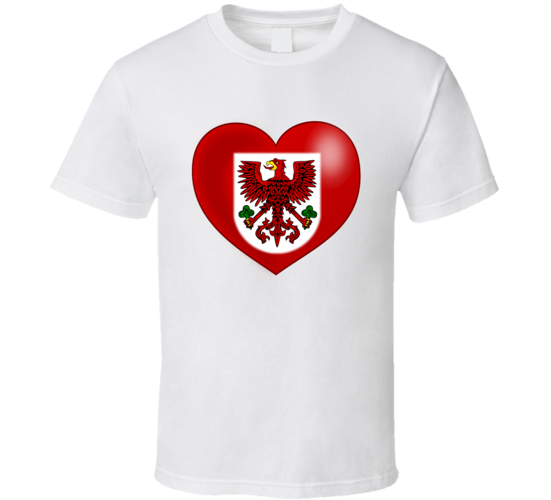 Polish Eagle in Heart T Shirt