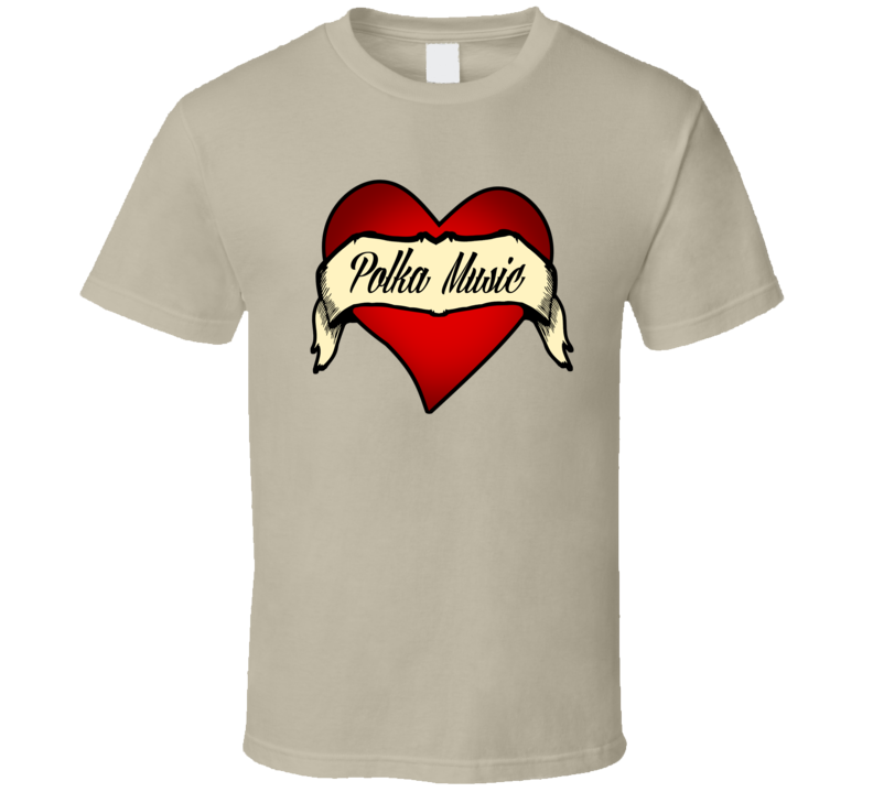 Polka Music Heart Banner V.1 T Shirt