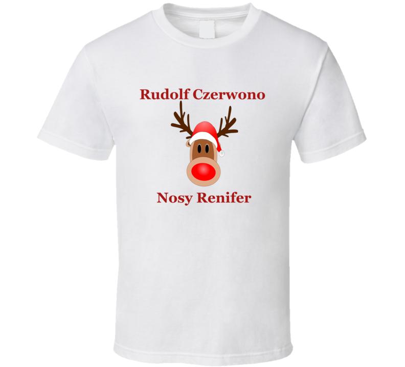 Rudolf Czerwono Nosy Renifer V.1 T Shirt