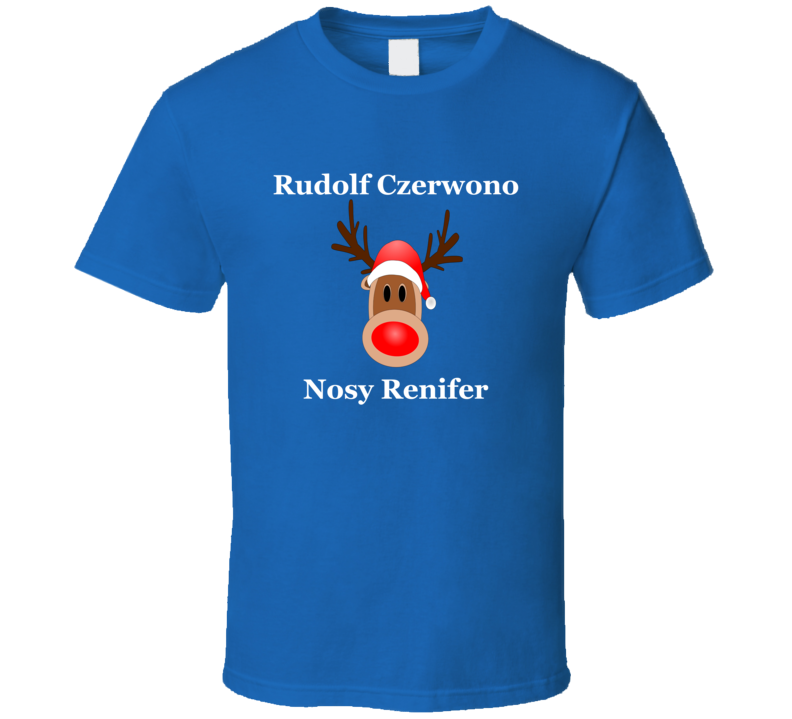Rudolf Czerwono Nosy Renifer V.2 T Shirt