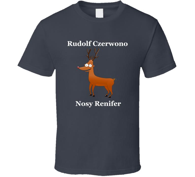 Rudolf Czerwono Nosy Renifer V.3 T Shirt
