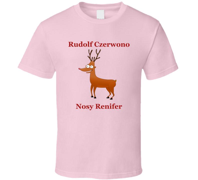 Rudolf Czerwono Nosy Renifer V.4 T Shirt