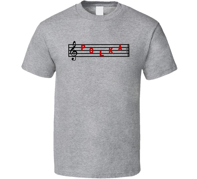 Polka On Staff V.1 T Shirt