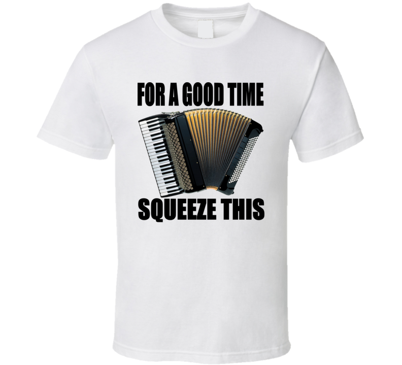 For A Good Time Squeeze This Accordion V.2 T Shirt