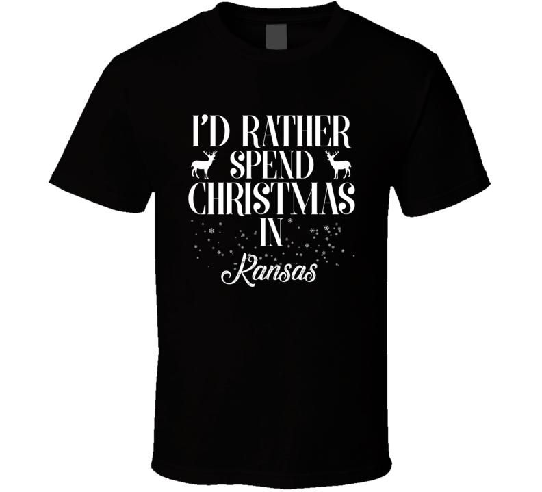 Spend Christmas In Kansas T Shirt