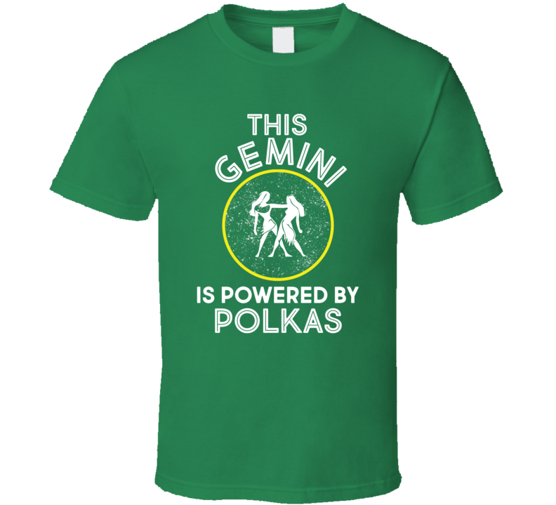 This Gemini Is Powered By Polkas V.1 T Shirt