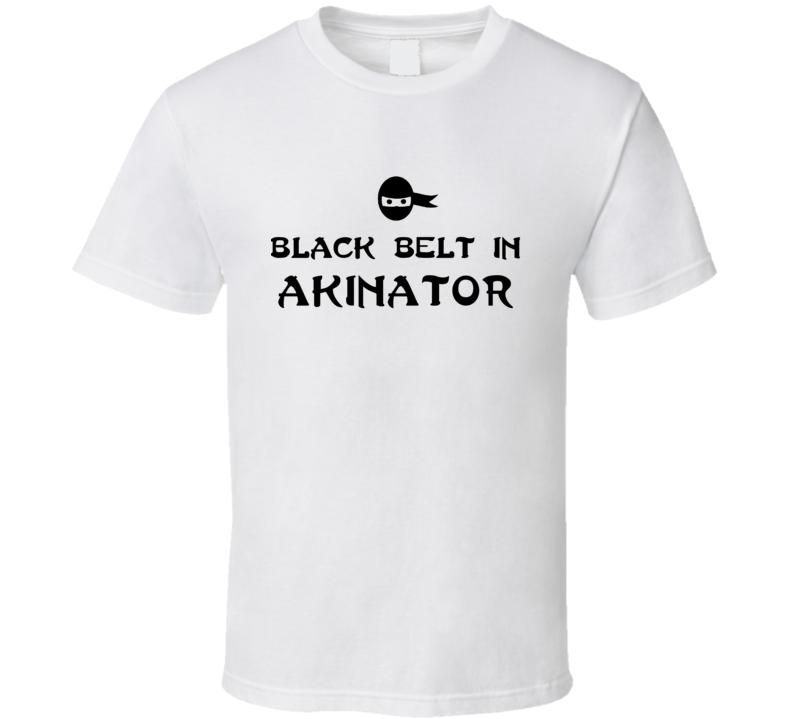 Black Belt In Akinator Funny Video Game T Shirt