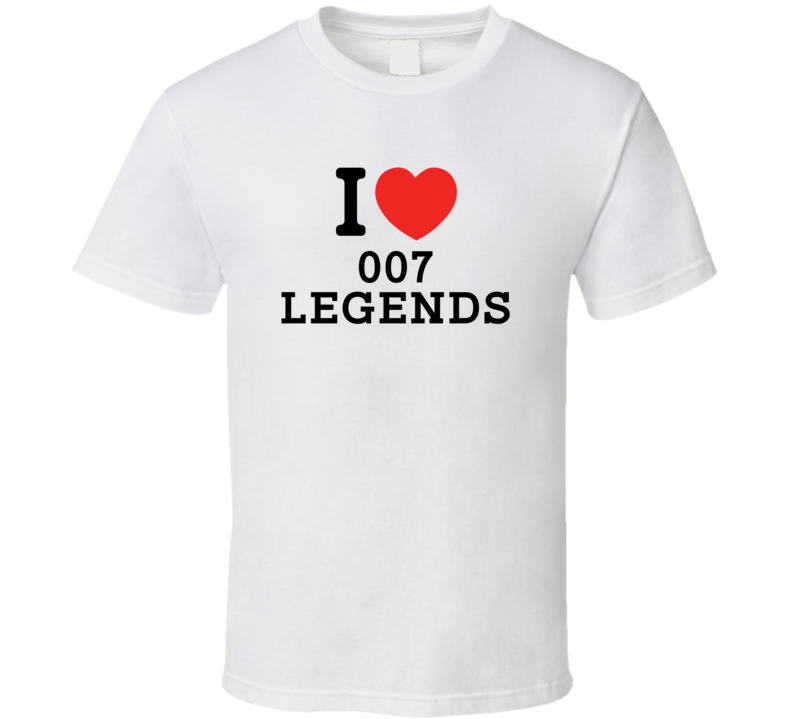 I Heart 007 Legends Video Game Classic Love Heart T Shirt