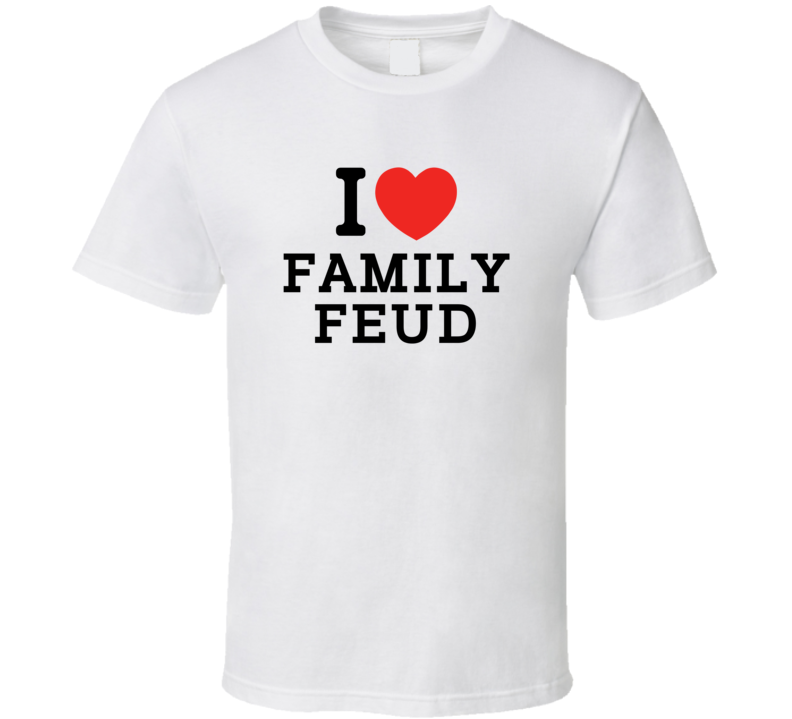 I Heart Family Feud Video Game Classic Love Heart T Shirt