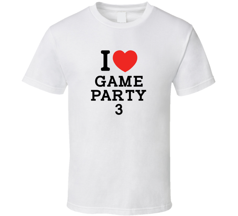 I Heart Game Party 3 Video Game Classic Love Heart T Shirt