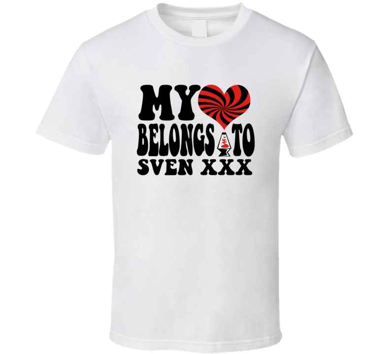 My Heart Belongs To Sven Xxx Video Game Retro T Shirt