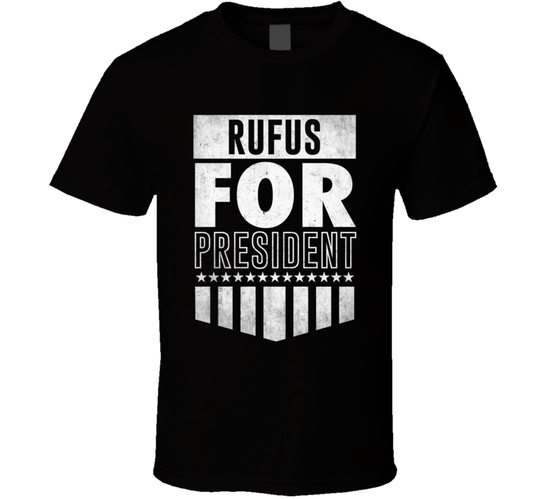 Rufus For President Funny Video Game Character Election Parody T Shirt