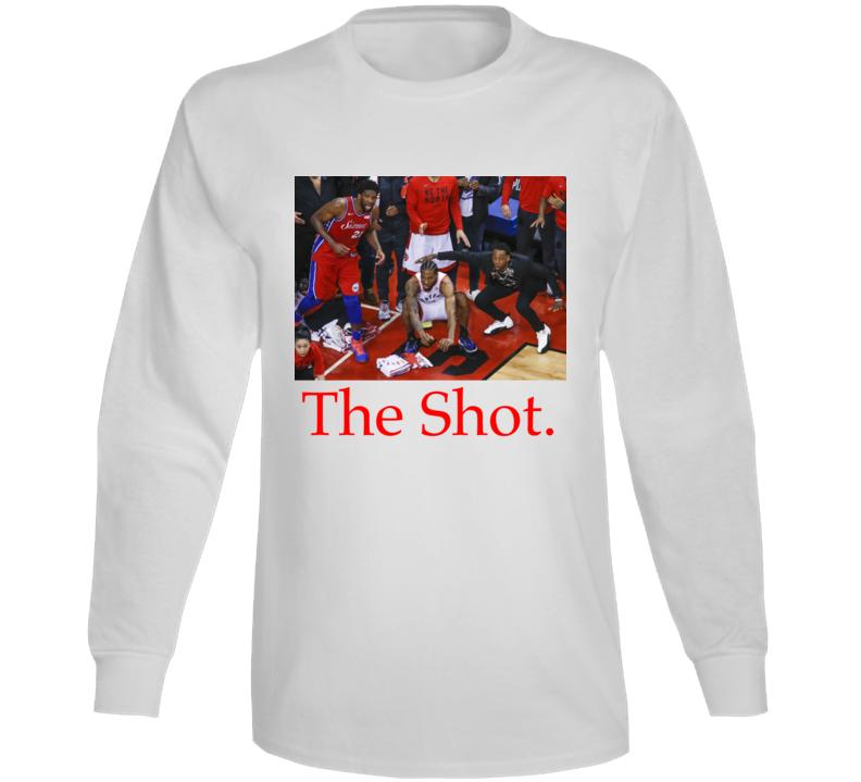 Kawhi Leonard The Shot Nba Basketball Toronto Raptors Playoff Game Winning Shot Long Sleeve