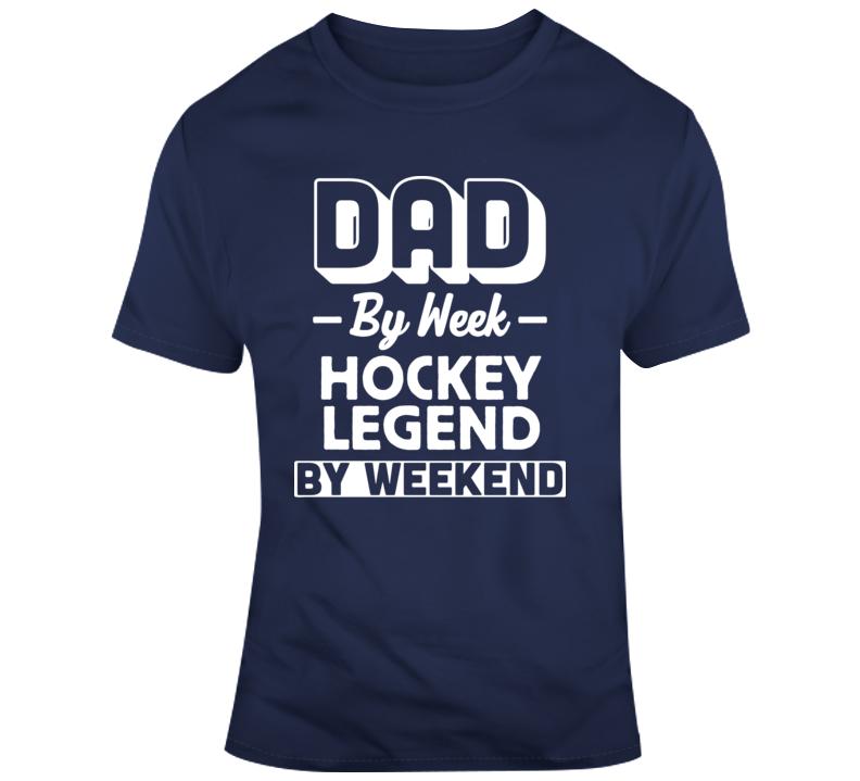 Hockey Legend Fathers Day Gift Funny Joke T Shirt