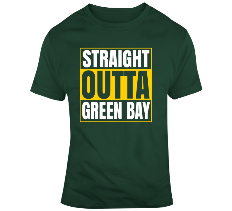 Green Bay Packers Straight Outta Green Bay  T Shirt