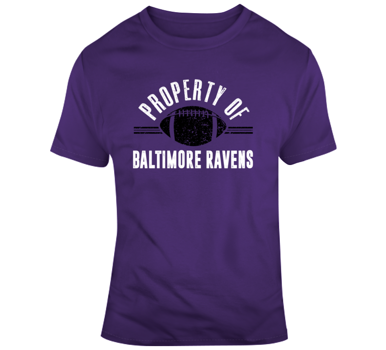 Property Of Baltimore Ravens Football Fan Gift T Shirt