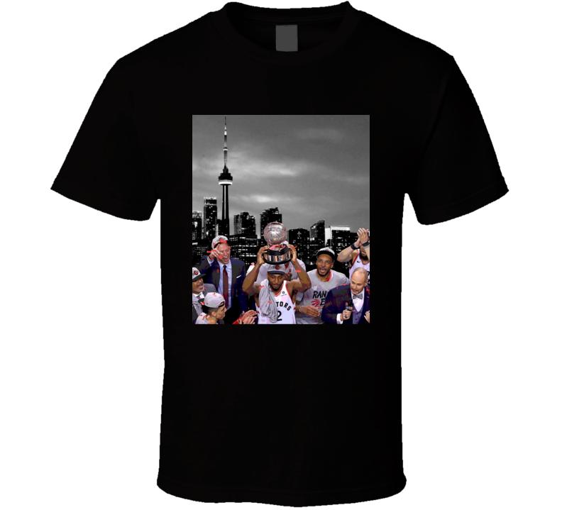 Kawhi Leonard Toronto Raptors Nba Eastern Conference Champions Playoff Basketball SKyline T Shirt