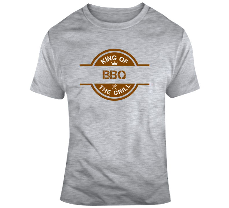 King Of Bbq The Grill Funny Fathers Day Dad Gift T Shirt
