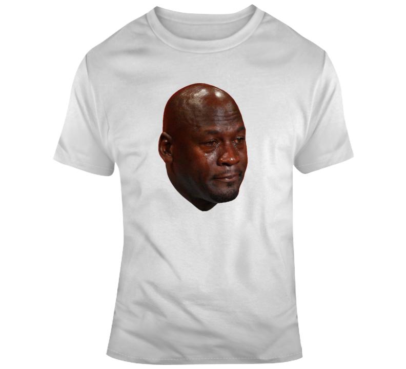 Michael Jordan Funny Crying Face Meme Gift T Shirt