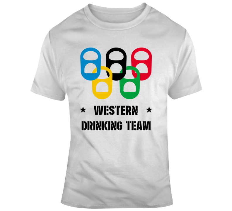Western Drinking Team Funny Canadian University Student Joke Gift T Shirt